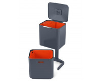 Poubelle Totem waste & recycling 60L JospehJospeh Anthracite