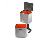 Poubelle Totem waste & recycling 60L JosepJoseph acier inoxydable