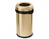Poubelle ronde ouverte en laiton 60 litres simplmehuman