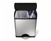 Poubelle rectangulaire de recyclage 46L SimpleHuman