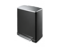 Poubelle Pedalbin E-Cube 50L Noir, EKO