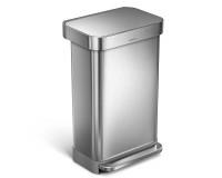 Poubelle rectangular step can acier inoxydable 45 litres, Simplehuman