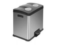 Poubelle Recycle Rejoice Step Bin 2x12L Inox Mat, EKO