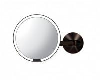 Miroir mural à capteur Simplehuman rechargeale bronzefoncé