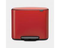 Poubelle à pédale BO 36L Brabantia red passion