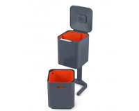 Poubelle Totem waste & recycling 40L JosephJospeh Anthracite