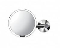 Miroir à capteur mural rechargeable Simplehuman inox