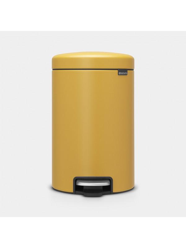Brabantia poubelle à pédale NEWICON 12L Mineral Mustard Yellow