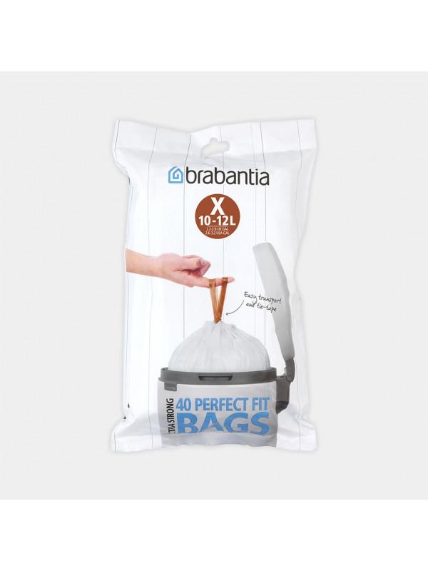 SACS PERFECTFIT Pour Bo et newIcon, Code X (10-12 litres), Distributeur, 40 sacs