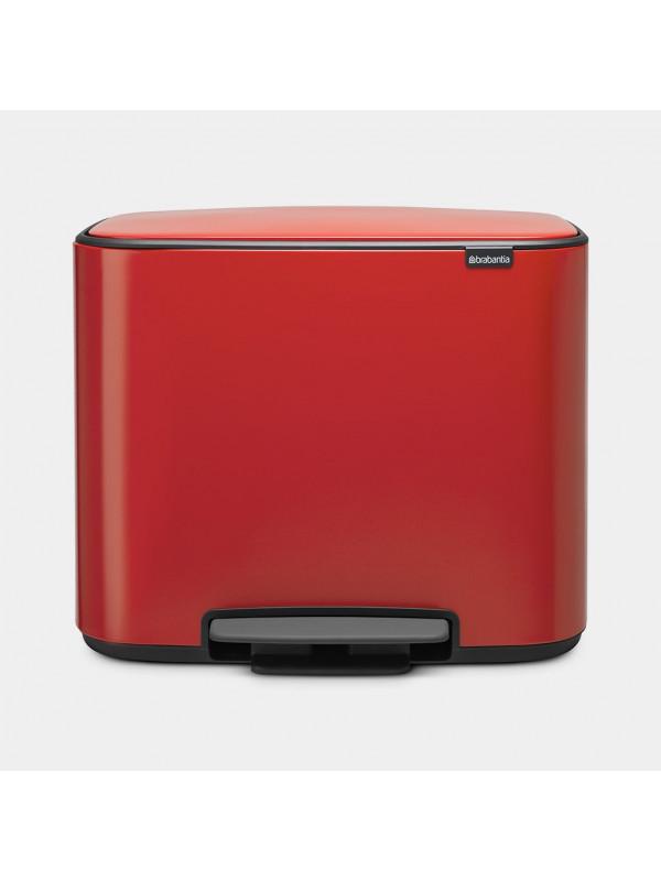 poubelle à pédale bo 36 litres brabantia red passion