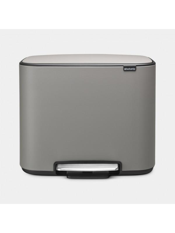 Poubelle 36 litres Brabantia mineral concretev grey