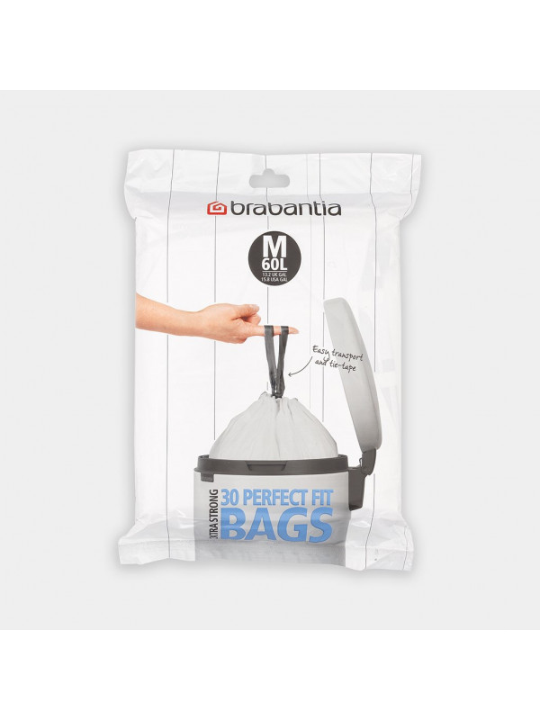 Sacs poubelle Brabantia de 60 litres.