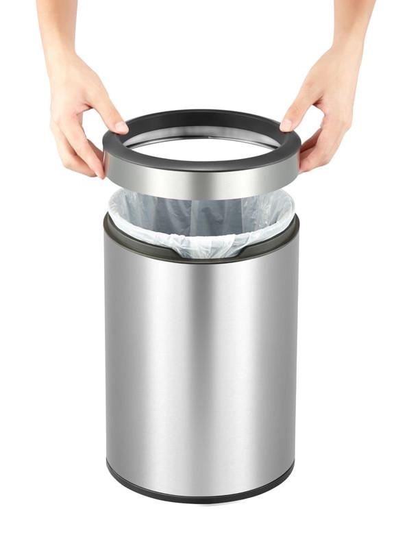 Poubelle ouverte 12 litres ronde eko