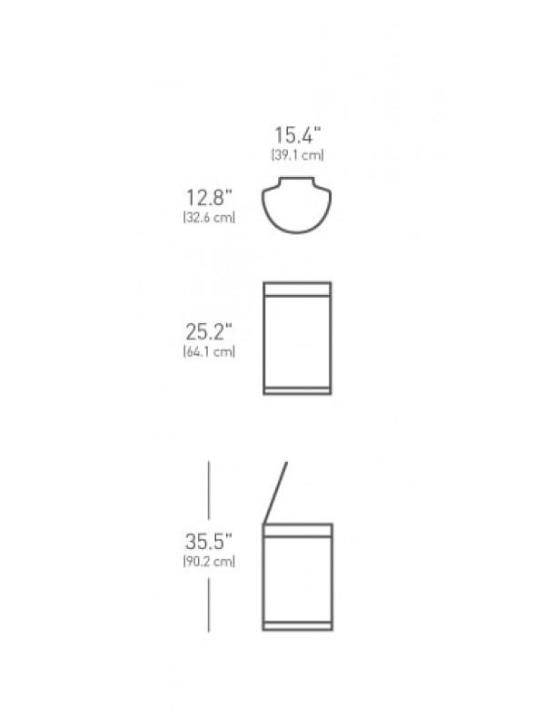 Dimensions poubelle à capteur Simplehman