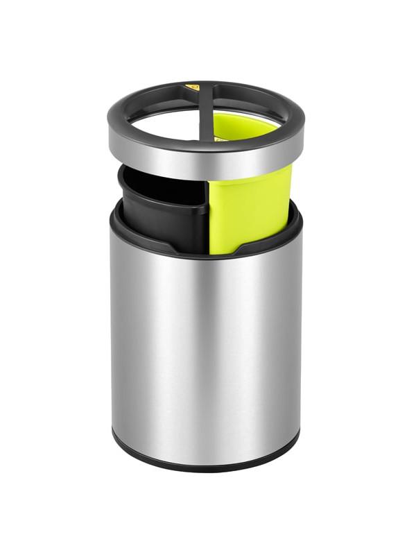 Petite poubelle Eko ronde de tri selectif 5 + 5 litres