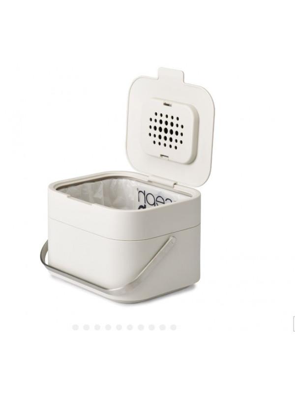 Poubelle de compostage. Capacité : 4 litres. JosephJospeh