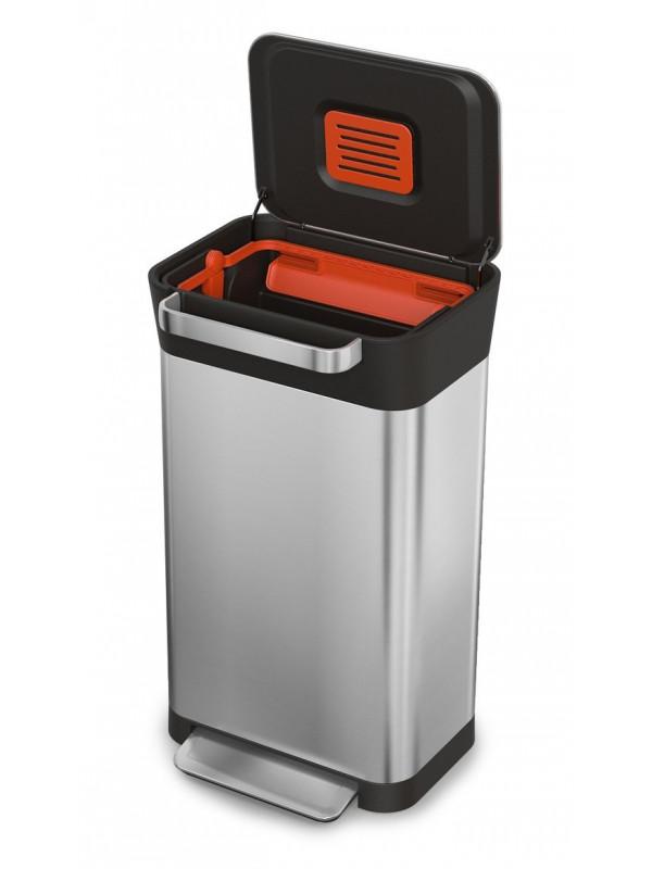 Compacteur-déchets-Titan30L-acier-inoxydable-JosephJoseph