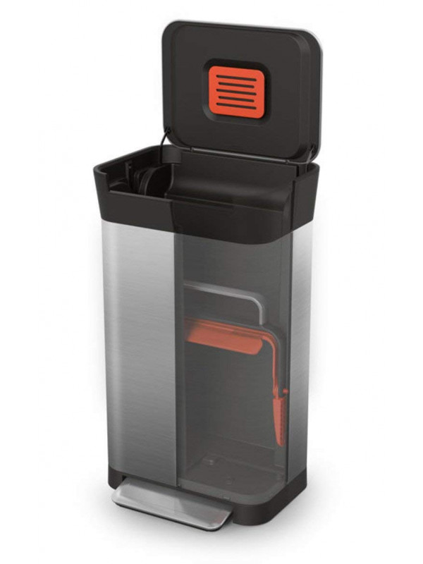 Compacteur-déchets-Titan30L-acier-inoxydable-JosephJoseph2