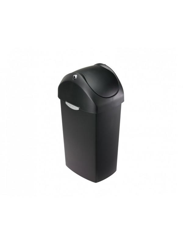 Simplehuman poubelel 40 litres à couvercle basculant plastique noir