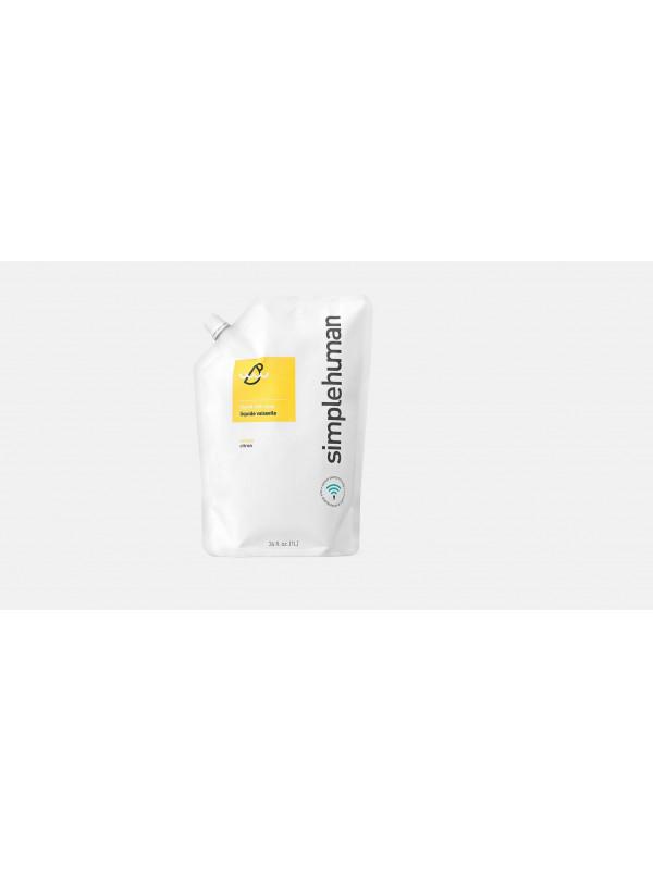 Simplehuman 1 litre citron liquide vaisselle, poche de recharge