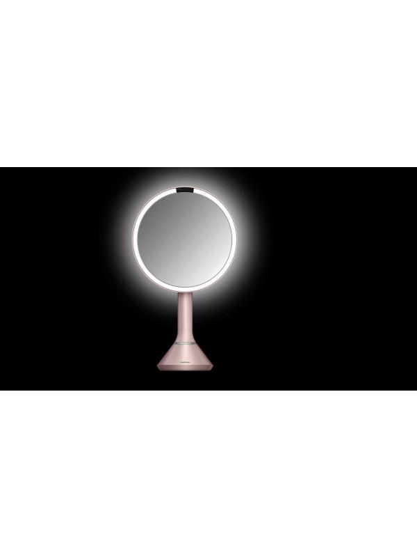 Miroir à capteur luminosité réglable Simplehuman rose