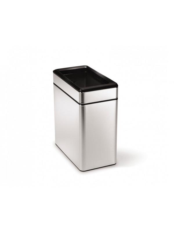 Simplehuman poubelle troite de bureau ou salle de bain open top 10l ino - Poubelle cuisine etroite ...