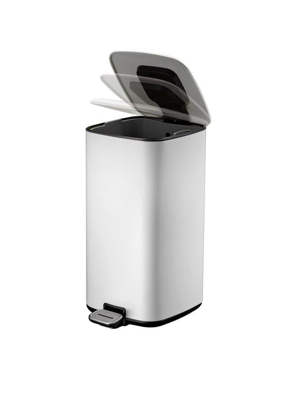 Petite poubelle blanche 20 litres eko