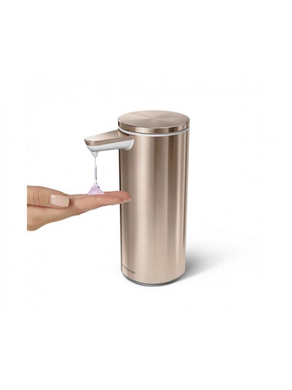 266ml distributeur à capteur rechargeable Simplehuman acier inoxydable or rose