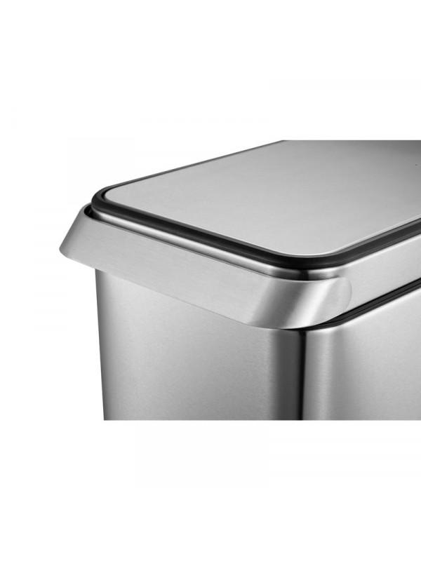 Poubelle cuisine Eko 30 litres inox mat