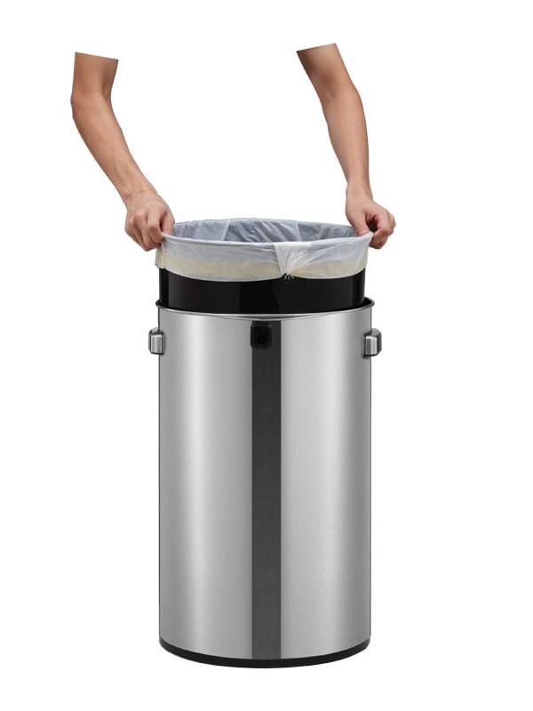 Grande poubelle inox mat 60 litres Eko